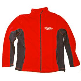 Fleecová bunda červená